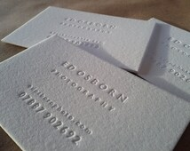 Inkless Letterpress Business Cards // made to order, set of 100.