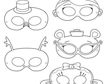 Doctor Printable Coloring Masks Hippo Mask Lamb