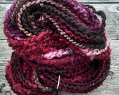 Chocolate Covered Cherries handspun yarn reserve for Annette