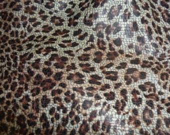 """Leather 12""""x12"""" Soft MALTESE Leopard Print on Bluish Gray Grain Cowhide Leather Hide 2 oz / 0.8 mm PeggySueAlso™ LIMITED QUANTITIES"""