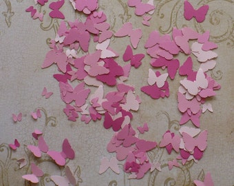 125 Tiny Butterfly / Butterflies / Punchies / Shapes made from Pinks / Pink Cardstock 4 Crafts Mobiles Wall Hanging Murals Baby Crafts