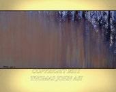 ABSTRACT PAINTING Original Large 24x48 Ready to hang Modern Waterfall Art By Thomas John