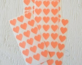 CLEARANCE - 108 Small Peach Heart Stickers