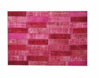 Patchwork rug Fuchsia 119