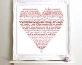 "A beautiful wedding reading poem. ""UNION"" Perfect wedding, anniversary gift Art Print Poster. 10x8"" 11x14"" 16x11"" 16x20"""
