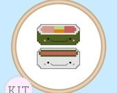 Kawaii Sushi Mini Cross Stitch Kit with Hoop Frame