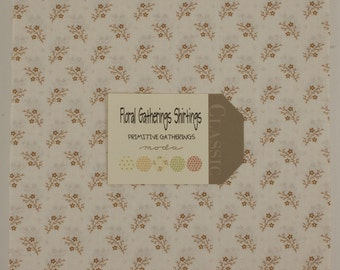 Floral Gatherings Shirting Fabric Collection by Primitive Gatherings   - 1 Layer Cake