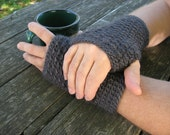 Men's Fingerless Gloves Pattern - PDF file pattern - One Skein Project!
