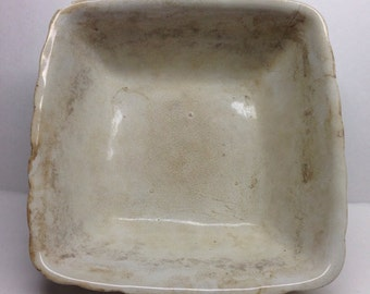 Anthony Shaw and Son Antique  Bowl Opaque Stone China Anthony Shaw and Son large square dish  11 x 11