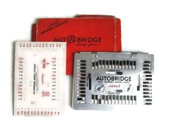 Vintage Bridge Game Auto Bridge Game 1950s Mid Century Card Games