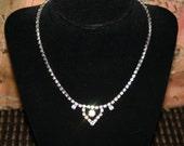 Diamond Rhinestone Necklace Vintage