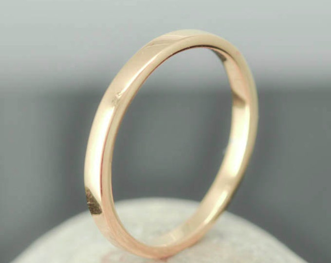 18K Rose Gold Ring, 1.5mm x 1.5mm, Wedding Band, Wedding Ring, Yellow Gold Band, Flat Band, Square Band, Size up to 6
