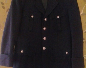 Military style navy jacket