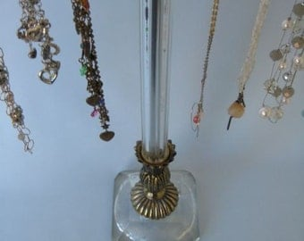 1940's Fluted Brass Necklace Display Stand