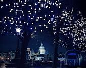 London photography, London poster, midnight blue, romance, photography, night