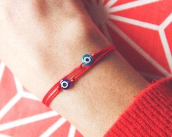 evil eye string bracelet / red string bracelet / evil eye bracelet/ Red String Kabbalah Bracelet/ lucky charms bracelet