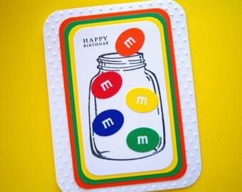 M & M Lovers Birthday Card