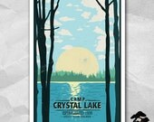 Camp Crystal Lake Vacation Poster - 12 x 18 inches - Friday The 13th - Jason Voorhees
