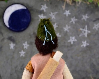 Needlefelted Waldorf Doll. Star Child Series 004. Handmade Penny Doll by alyparrott on Etsy.
