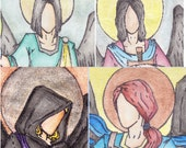 The four Archangels 81/2X11in. Signed print