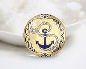 10mm 12mm 14mm 16mm 18mm 20mm 25mm 30mm Handmade Round Anchor Photo Glass Cabochon Dome Image Glass Cabochon  (P2522)