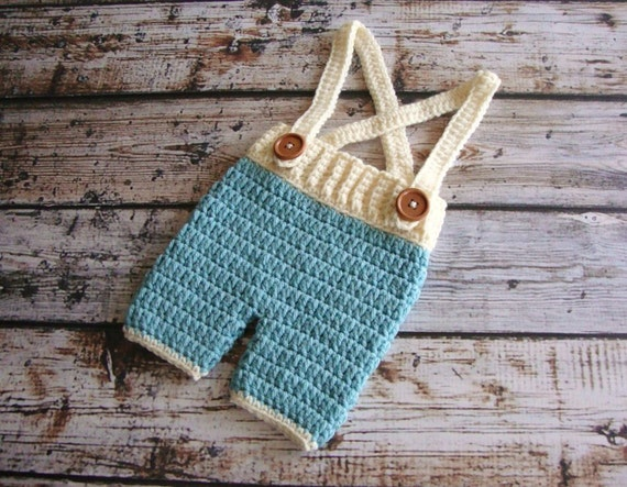 Crochet Patterns For Baby Boy Outfits : Newborn Crochet Pants Pattern Suspenders Pattern Baby Pants