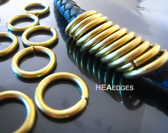 Finding - 10 pcs Gold Very Large Open Jump Rings 18mm