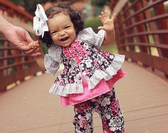 Baby Caroline's Princess Top PDF Pattern sizes newborn to 18/24m