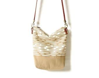 Bucket Bag - Cross Body Shoulder Purse - Organic Eco Friendly Purses