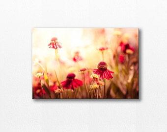 botanical canvas print photography 12x12 24x36 fine art photography floral gallery wrap flower canvas print floral golden red canvas print
