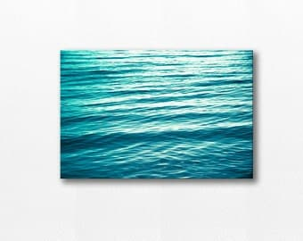 ocean photography canvas beach art nautical decor canvas coastal 12x18 24x36 fine art photography beach abstract canvas art teal canvas wrap