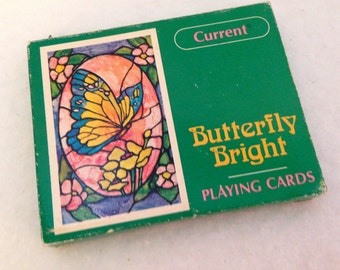 Vintage Current Butterfly Playing Cards