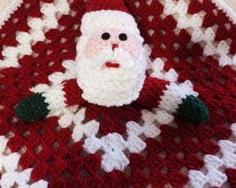 Christmas Clearance, Santa Claus Amigurumi Christmas lovey for baby or toddlers,