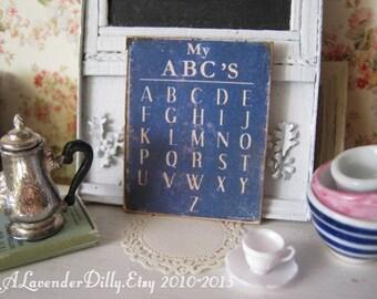 ABC Sign for Dollhouse