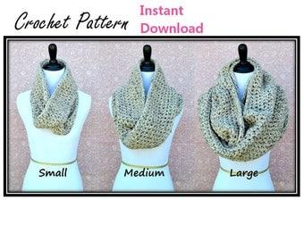 Infinity Scarf Crochet PATTERN- - Any Size