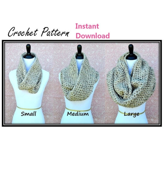 The crochet infinity scarf is the perfect size so that whether you loop it once or twice, the length will fall just right instead of being that awkward in-between. Rustic Fringe Infinity Scarf The stylish fringe detail on this scarf makes this a unique crochet pattern that is bound to stand out.