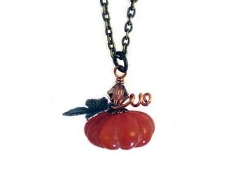Harvest Pumpkin Necklace