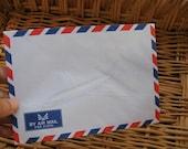 20 pcs.Vintage Style Thai Airmail Envelopes (Medium Size 4 1/2 x 6 3/8 inch or 11.40 x 16.20 cm.)