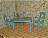 Old Dining Set (5 pieces), miniature, dollhouse