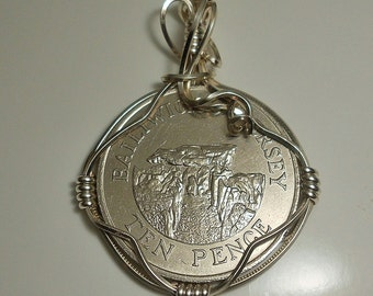 Baliwick of Jersey Vintage Coin Pendant 1986
