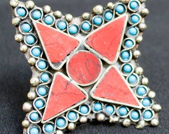 Vintage Afghanistan STAR Ring Gypsy Tribal Belly Dance Uber Kuchi®