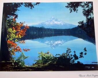 "Vintage Print, 12""x15"", Mount Hood in Oregon; from 1946"