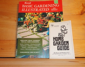 Vintage 1972 Sunset Basic Gardening Illustrated 925 Drawings and Photographs Handbook How To DIY Mad Men Eames Era 1950s 1960s Mid-Century