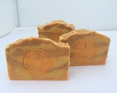 Olive Oil Soap. Citrus essential oil blend Cold Process soap made with beeswax and honey.