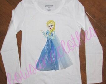 Elsa applique in tulle applique design digital instant download