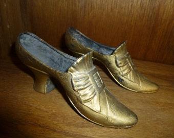 Antique Metal Shoe Pin Cushion Form Lot of 2