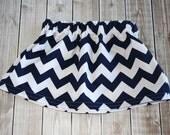Riley Blake Navy Chevron Toddler Girl Skirt