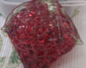 Glass Strawberry for Decoration