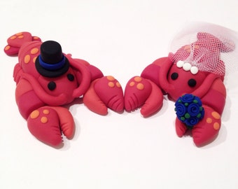 Lobster Wedding Cake Topper - Choose Your Colors