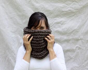 Chunky cowl infinity scarf - Berwick Warmer - Barley